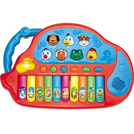 Piano Teclado Musical Fazendinha Animais - Educativo - CKS