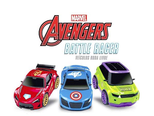 Carro Carrinho Avengers - Super Heróis - Battle Racer - Roma