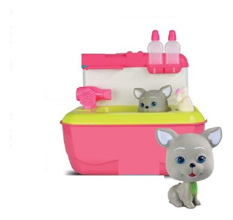 Maleta Pet Shop Banho - Gatinho C/ Acessórios - Rosa - Roma