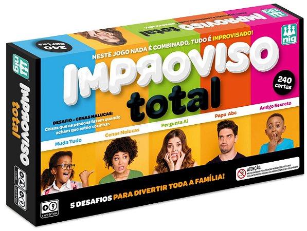 Jogo Improviso Total - 240 Cartas - Diversão Garantida - Nig