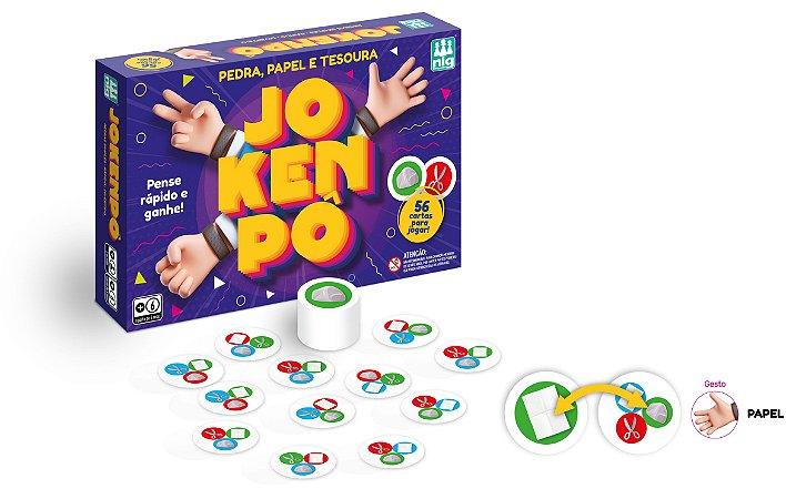 Jogo Jokenpô - Pedra, Papel E Tesoura - 56 Cartas - Nig