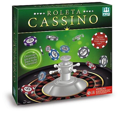 Jogo Roleta Cassino - C/ 40 Fichas Coloridas - Nig