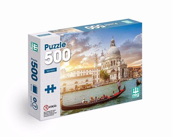 Quebra Cabeça Puzzle - Veneza Itália - C/ 500 Peças - Nig