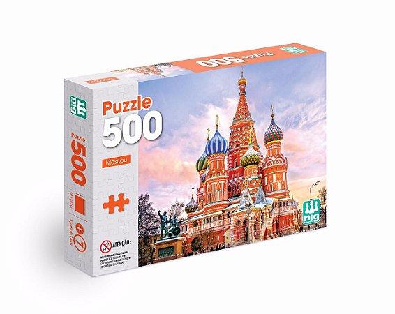 Quebra Cabeça Puzzle - Moscou - Rússia - C/ 500 Peças - Nig