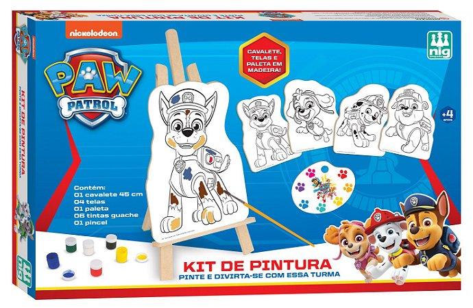 Kit De Pintura Patrulha Canina - C/ 13 Peças em Madeira -Nig