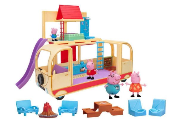 Peppa Pig - Playset Van Para Acampar + Família Pig - Sunny