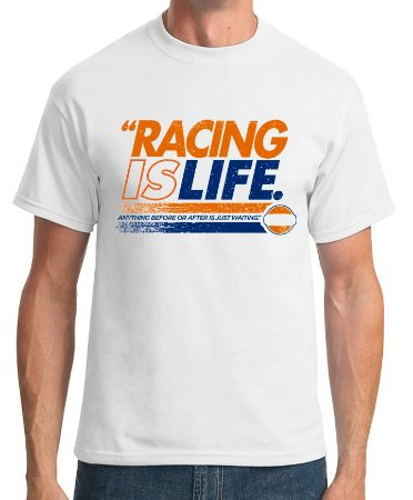 Camiseta Racing is Life (branca)