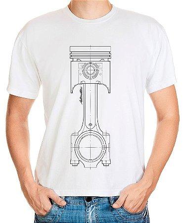 Camiseta Pistão (branca)