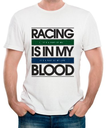 Racing is in my Blood, Ayrton Senna (Branca)