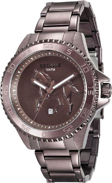 Relógio Masculino Seculus 20441GPSVMA1 Country Fundo Cavalo