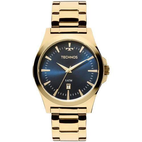 Relógio Technos Masculino Classic 2115lan/4a Azul Dourado