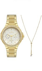 Relógio Technos Ladies Feminino Dourado 6P29Akr/4K