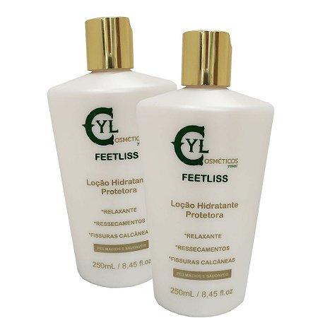 Feetliss Kit Econômico 2und. Hidratação e proteção  p/ pés e calcanhares com fissuras ou ressecados