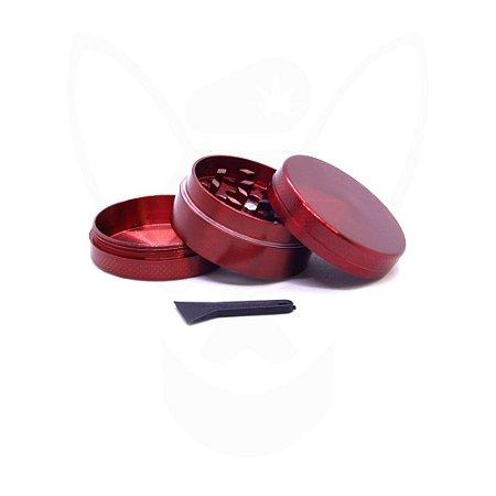 Triturador Cores 3 Partes 5cm Vermelho