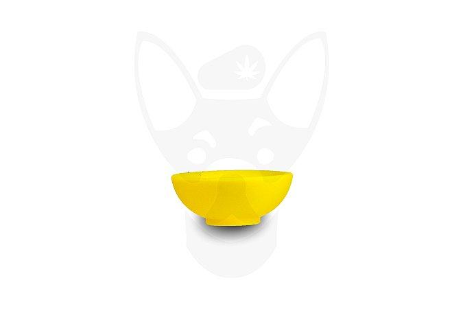 Cuia de Silicone Mini Cultura Dab Amarela