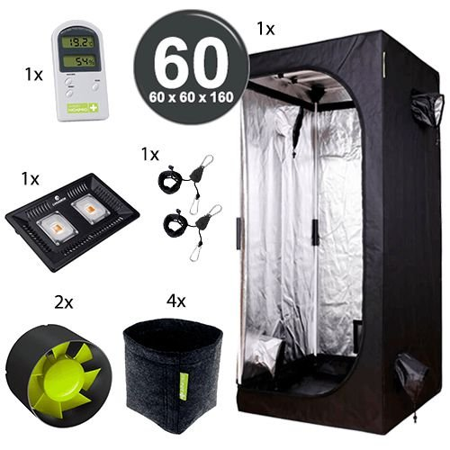 Kit Básico Cultivo Indoor Garden HighPro LED Probox 60 Até 4 Plantas