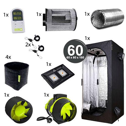Kit Básico Cultivo Indoor Garden HighPro LED Probox 60 Até 4 Plantas Sem Cheiro