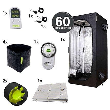 Kit Avançado Cultivo Indoor Garden HighPro LED Probox 60 Até 4 Plantas