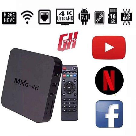 TV BOX MXQ 4K 2/16GB NETFLIX YOUTUBE IPTV