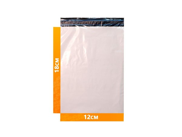 Envelope Plástico Express com Lacre de Segurança  - Branco 12x18cm | 12 x 18cm