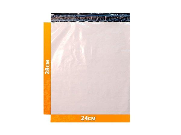 Envelope Plástico Express com Lacre de Segurança  - Branco 24x28cm  | 24 x 28 cm