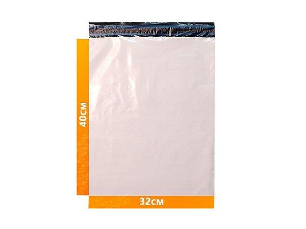 Envelope Plástico Express com Lacre de Segurança  - Branco 32x40cm   32 x 40 cm