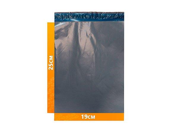 Envelope Plástico Express com Lacre de Segurança  -  Cinza 19x25cm | 19 x 25 cm