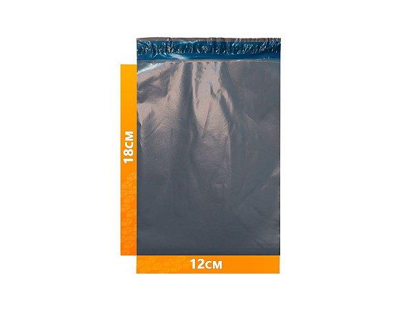 Envelope Plástico Express com Lacre de Segurança  -  Cinza 12x18cm   12 x 18 cm
