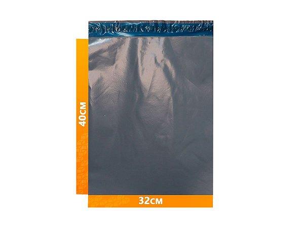 Envelope Plástico Express com Lacre de Segurança  -  Cinza 32x40cm   32 x 40 cm