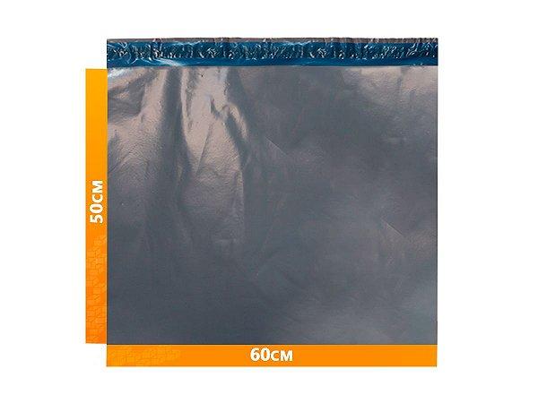 Envelope Plástico Express com Lacre de Segurança  -  Cinza 60x50cm   60 x 50 cm