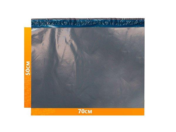 Envelope Plástico Express com Lacre de Segurança  - Cinza 70x50cm   70 x 50 cm