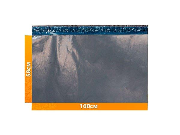 Envelope Plástico Express com Lacre de Segurança  - Cinza 100x58cm   100 x 58 cm