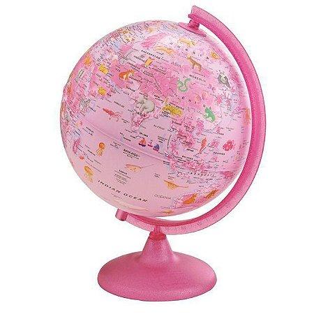 Globo Terrestre Luminoso - Pink Zoo - Geográfico - 25cm - Tecnodidattica