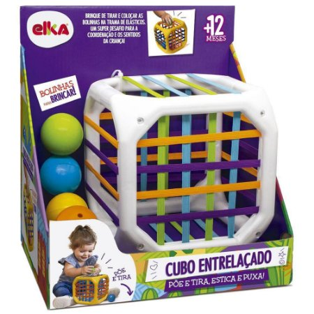 Cubo Entrelaçado - Põe e Tira, Estica e Puxa - Elka