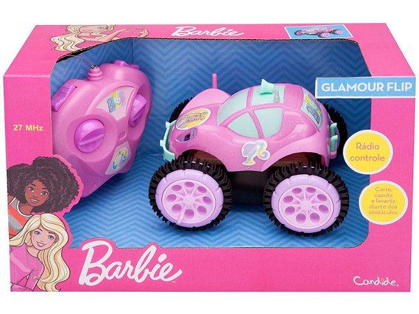 Carrinho de Controle Remoto - Glamour Flip - Barbie - Candide
