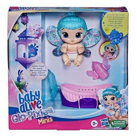 Boneca Baby Alive - Glo Pixies Minis - Aqua Flutter - Hasbro