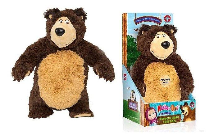 Pelúcia Masha e o Urso - Pelúcia Urso com Som - Estrela