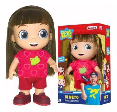 Boneca Gi Neto Com Som - Rosita
