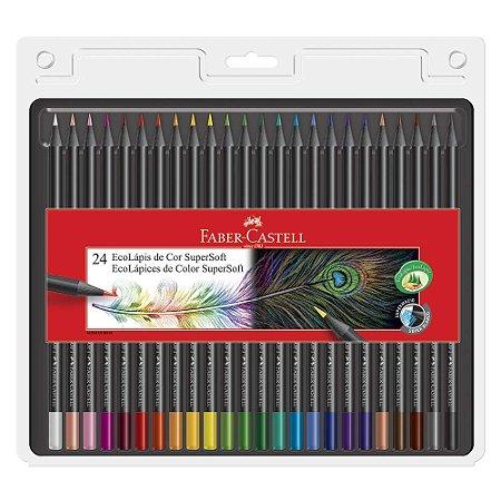 Lápis De Cor - Super Soft - 24 cores - Faber Castell