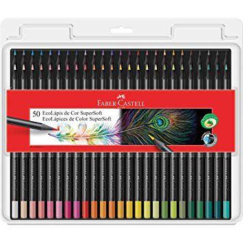 Lápis de cor - Supersoft - 50 Cores - Faber Castell