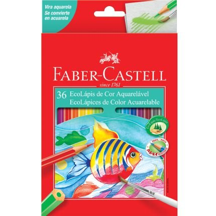 Lápis de Cor - Aquarelável - 36 cores - Faber Castell