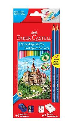 Lápis De Cor - 12 cores + 2 Lápis De Escrever - Faber Castell