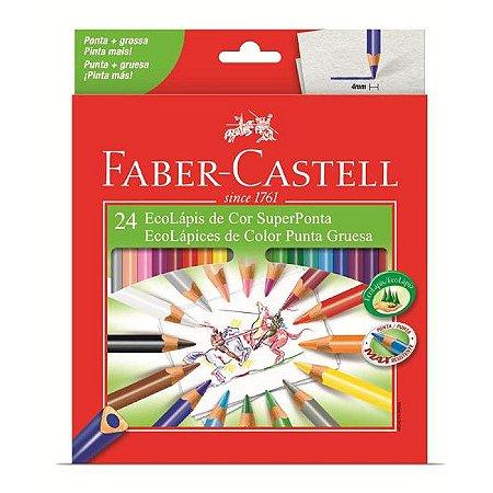 Lápis De Cor - Super Ponta - 24 cores - Faber Castell