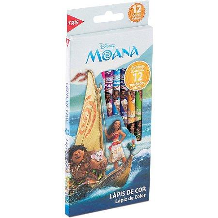 Lápis De Cor - Moana - 12 cores - Tris