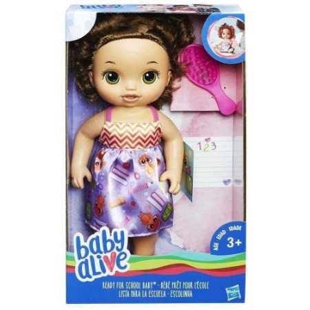 Boneca Baby Alive - Escolinha - Morena - Hasbro