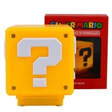 Luminária Super Mario - Bloco Interrogação - Zona Criativa