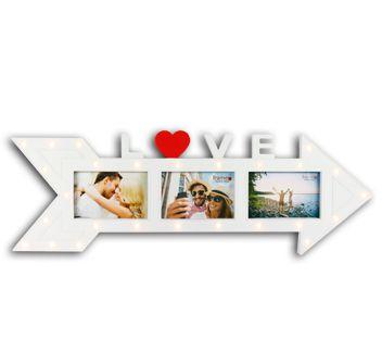 Porta Retrato Led - Love - 3 Fotos