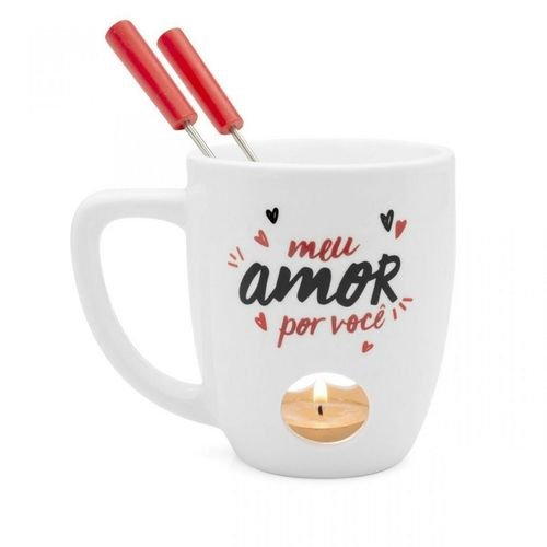 Caneca Fondue - Amor É Tudo - Ludi