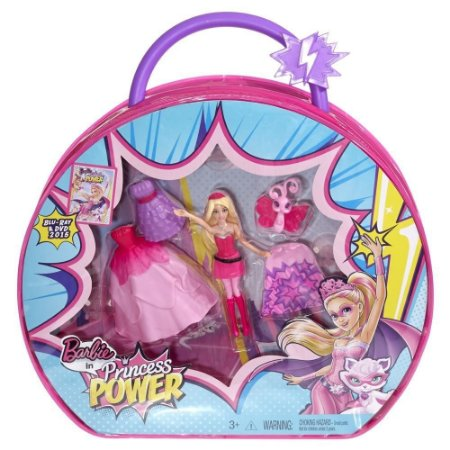 Kit Bolsa Boneca Barbie - Super Princesa - Mattel