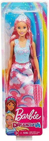 Boneca Barbie - Princesa Dreamtopia - Cabelos Coloridos Rosa - Mattel